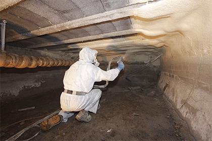 Isolation du vide sanitaire en mousse polyuréthane