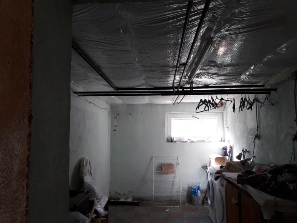 Isolation plafond cave avec un isolant réflecteur