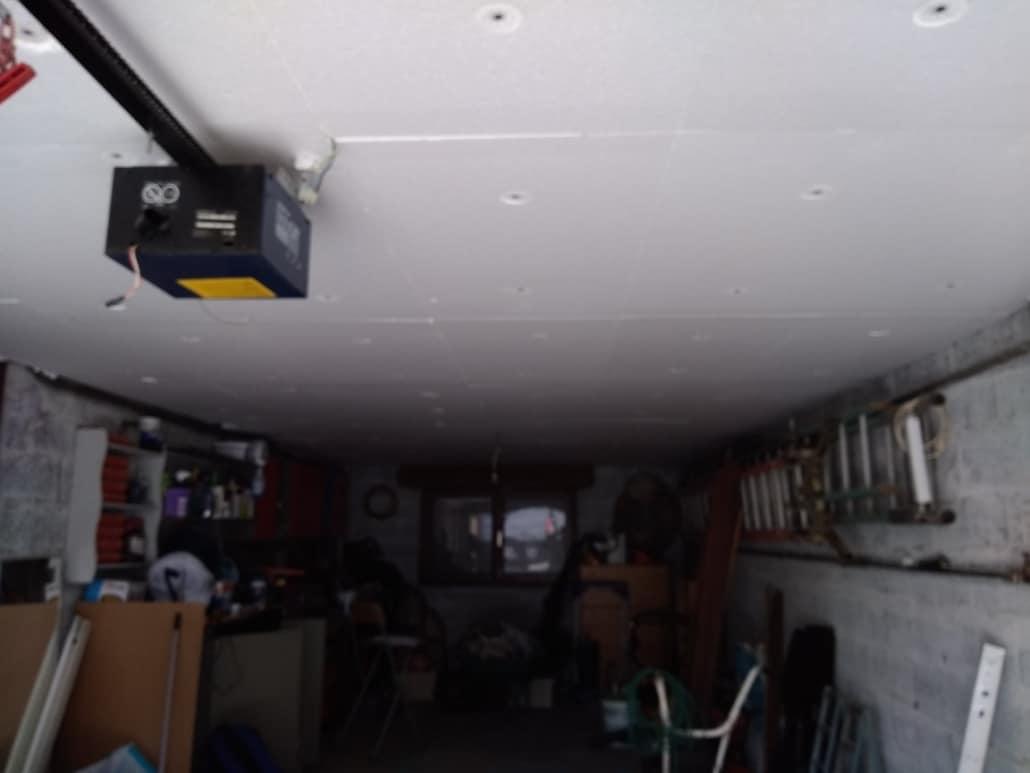 Isolation plafond cave garage plaques de polystyrène extrudé